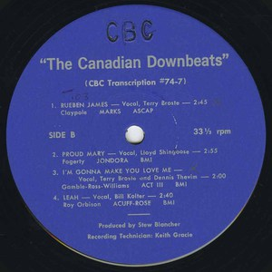 Canadian downbeats cbc lm 74 7
