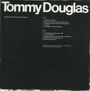 Greatest canadian tommy douglas essay