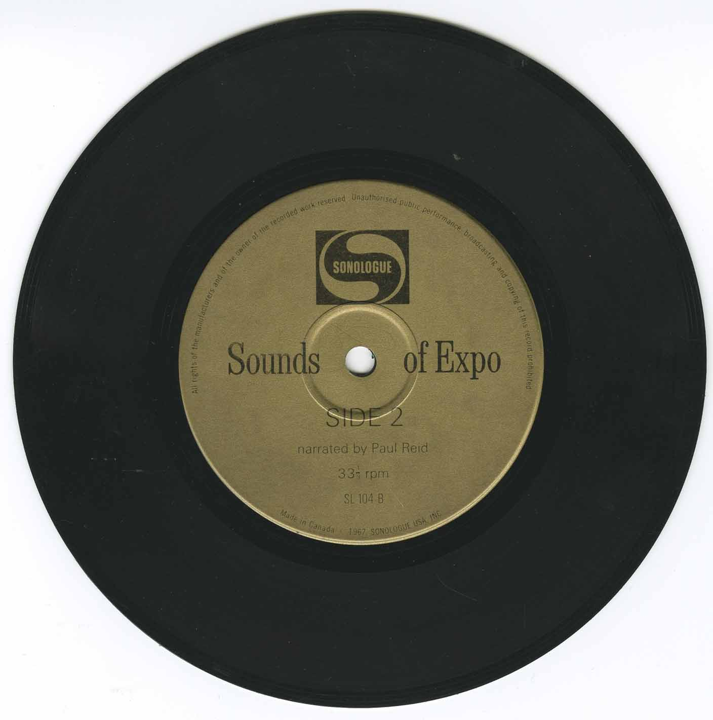 Paul Reid Sounds Of Expo 67