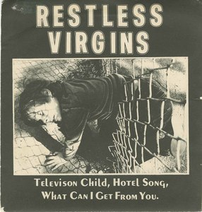 45 restless virgins television child pic sleeve front