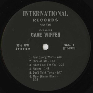 David wiffen live at the bunkhouse label 01