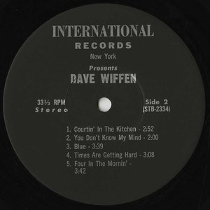 David wiffen live at the bunkhouse label 02