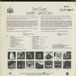 Mary saxton   sad eyes back