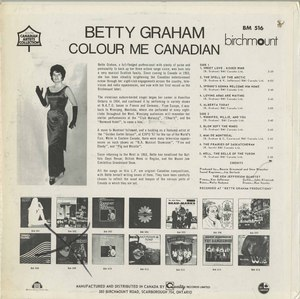 Bette graham colour me canadian back