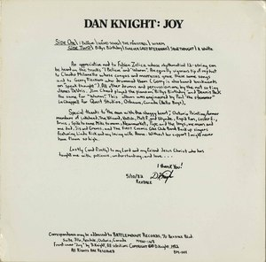 Dan knight joy back