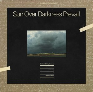 Richard white sun over darkness prevail front
