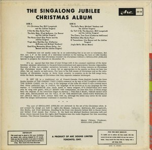 Singalong jubilee   christmas album back