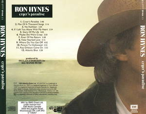 Ron hynes cryers paradise 1993 back cover 75970