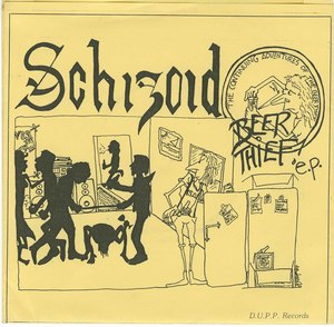 45 schizoid beer thieg pic sleeve front