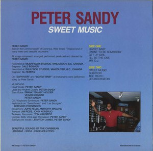 Peter sandy   sweet music back