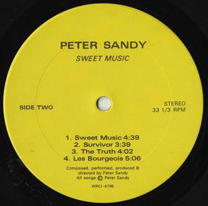 Peter sandy   sweet music label 02