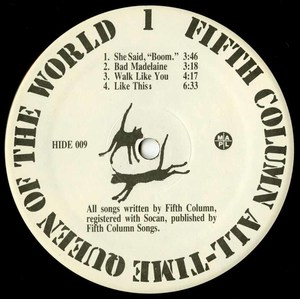 Fifth column all time queen of the world label 01