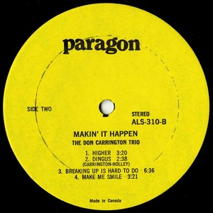 Don carrington trio makin' it happen label 02