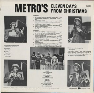 Metro   eleven days from christmas back