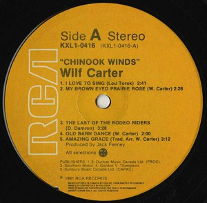 Wilf carter   chinook winds label 02