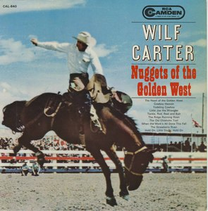 Wilf carter nuggets of the golden west front