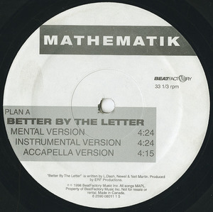 Mathematik better by the letter label 01