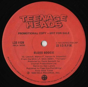 Teenage heads blood boogie %28promo%29 label 02