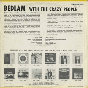The crazy people   bedlam back