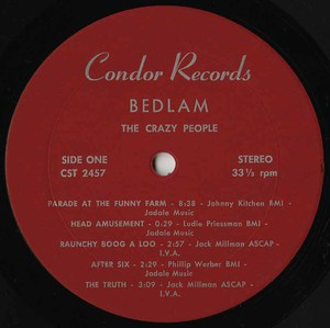 The crazy people   bedlam label 01