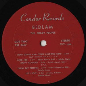 The crazy people   bedlam label 02