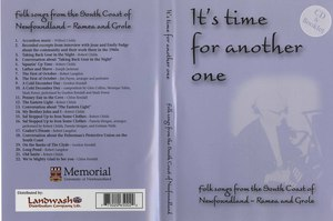Cd va its time for another folksongs from southern shore of newfoundland front back