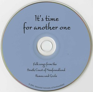 Cd va its time for another folksongs from southern shore of newfoundland cd