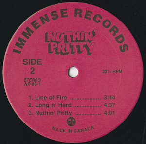 Nuthin pretty insert label 02