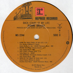Dianne brooks back stairs of my life  label 2