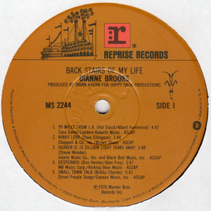 Dianne brooks back stairs of my life  label 1