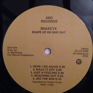 Snakeye shape up or ship out label 01
