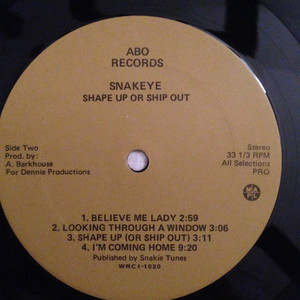 Snakeye shape up or ship out label 02