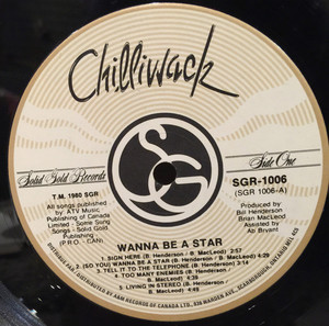 Chilliwack wanna be a star label 01