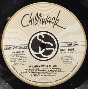 Chilliwack wanna be a star label 02