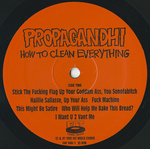 Propaghandi  how to clean everything label 02