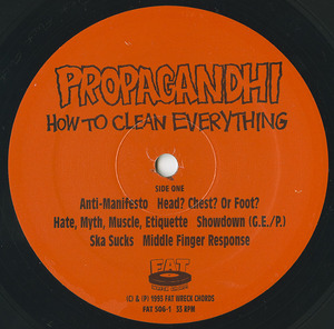 Propaghandi  how to clean everything label 01