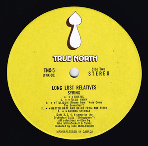 Syrinx long lost relatives label 02