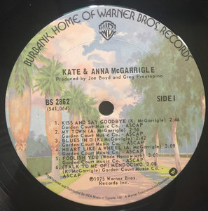 Kate and anna mcgarrigle st label 01