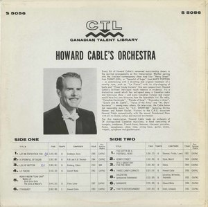 Howard cable orchestra ctl 5056 back