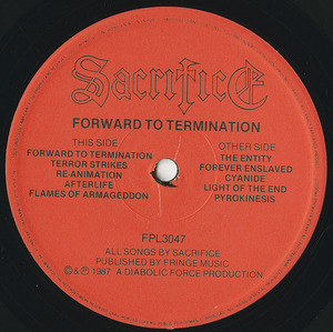 Sacrifice forward to termination label 01