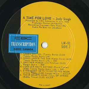 Judy singh a time for love label 02