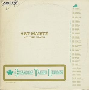 Art maiste   at the piano ctl 1085 front