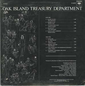 Oak island treasury department back