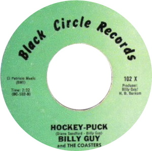 Billy guy and the coasters hockey puck black circle