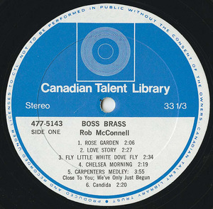 Rob mcconnell and the boss brass   on a cool day label 01