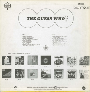 The guess who st birchmount back