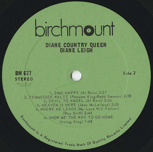 Diane leigh country queen label 02