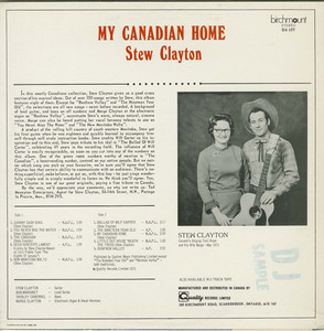 Stew clayton my canadian home back