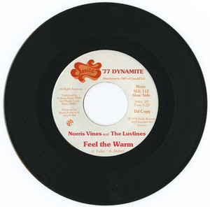 45 norris vines and the luvlines   feel the warm %28smile records sle 112%29 vinyl 01