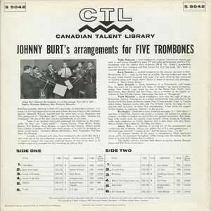 Johnny burt   johnny burt's arrangements for five trombones back